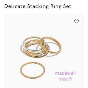 Madewell delicate stacking rings size 5